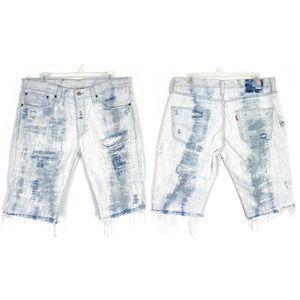 Levi's 511 Denim Cut Off Jean Shorts Distressed 31